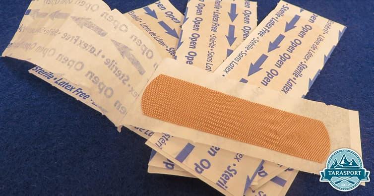 camping injuries cuts bandage