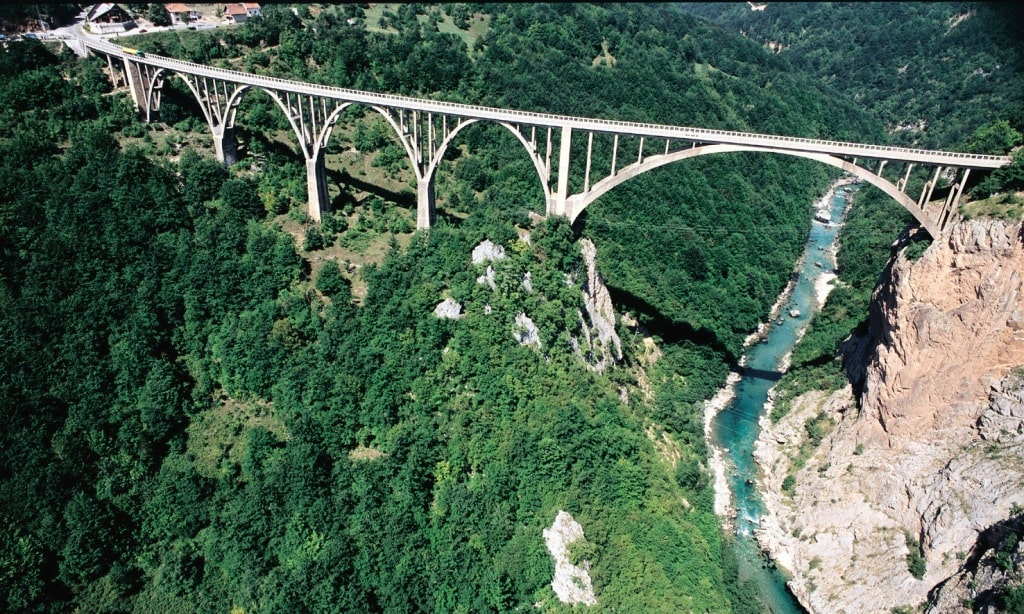 Tara Canyon Bridge Djurdjevica Tara