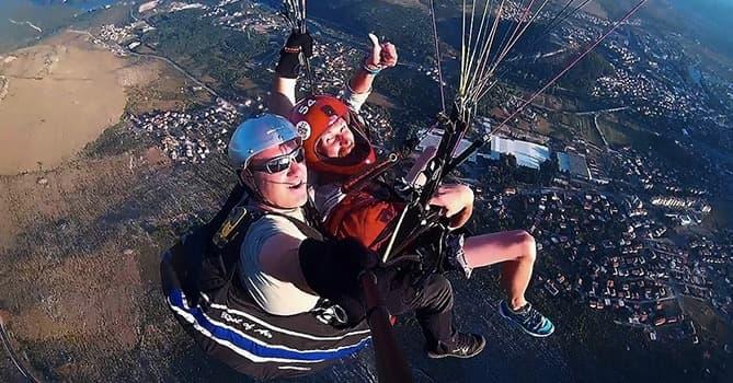 paragliding over trebinje