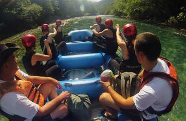 three day rafting 72km