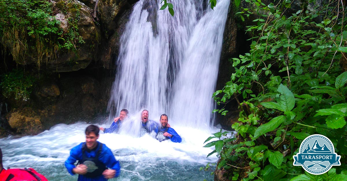 Canyoning waterfall Montenegro