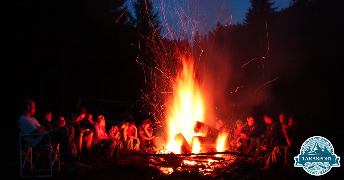 Long lasting campfire over night